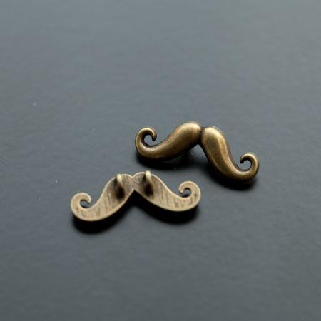 Connecteur Petite Moustache Bronze vieilli x 12