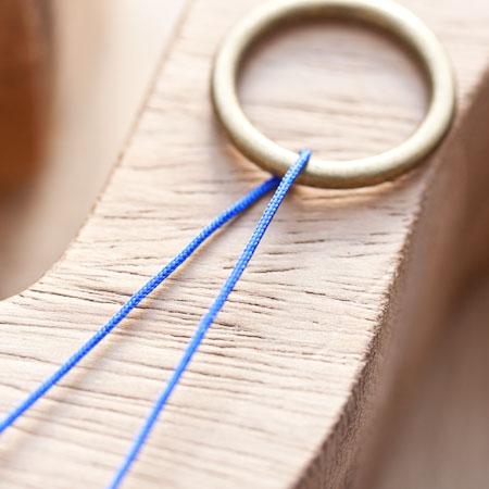 Cordon en nylon 0.8mm Bleu profond x 4m