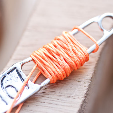 Cordon en nylon 0.8mm Orange x 8m