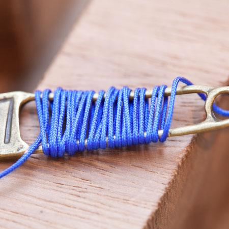 Cordon Nylon 0.8mm Bleu intense x 8m
