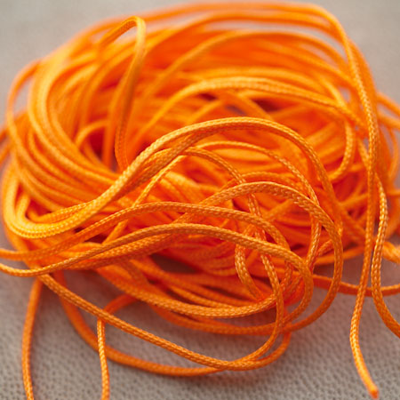 Cordon Nylon 1mm Orange Pétant x 5m
