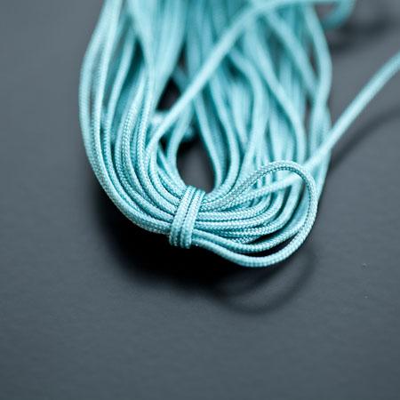 Cordon Nylon 1mm Vert cyan foncé x 6m