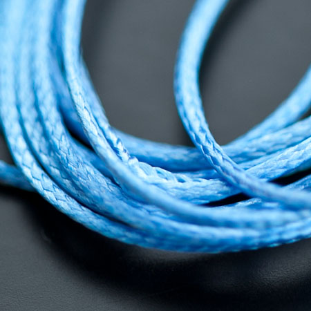 Cordon Polyester 0.5mm Bleu Turquoise