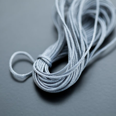 Cordon Polyester 0.5mm Gris foncé x 4m
