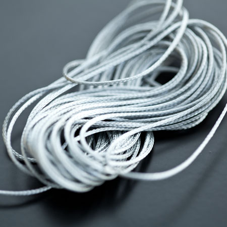 Cordon Polyester 0.5mm Gris