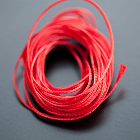 Cordon Polyester 0.5mm Rouge Brique x 4m