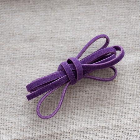 Lanière suédine 3mm Violet x 3m