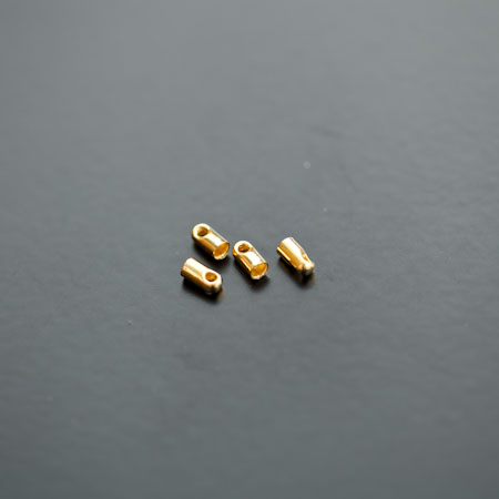 Embout à coller 1.5mm Doré x 30pcs