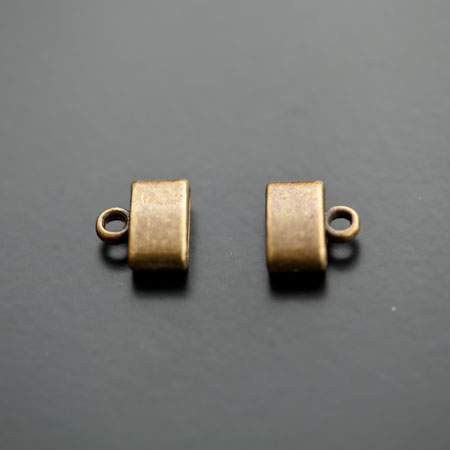 Embout à coller 9x2.5mm Bronze vieilli x 6pcs