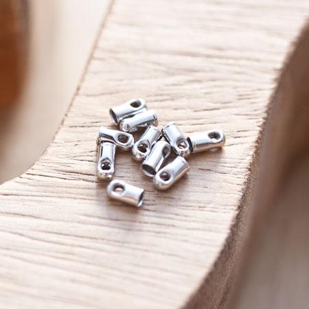 Embout pour cordon à coller 2.8mm Argent gris x 16