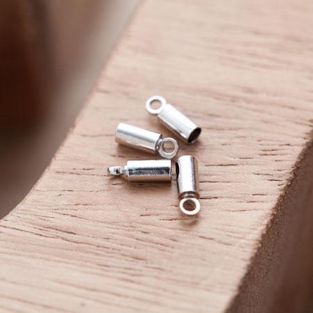 Embout pour cordon à coller 8x2.8mm Argent gris x 20