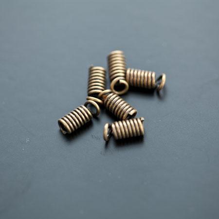 Embout pour cordon à ressort 3mm Bronze vieilli x 25