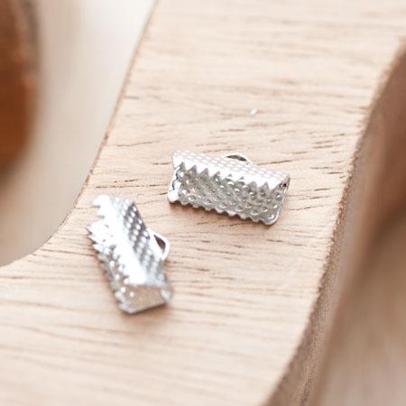 Embout pour tissu à pincer 13mm Argent gris x 20