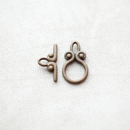 Fermoir Anneau T Bronze vieilli x 8pcs