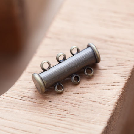 Fermoir Barre Coulisse 20mm Bronze vieilli x 1