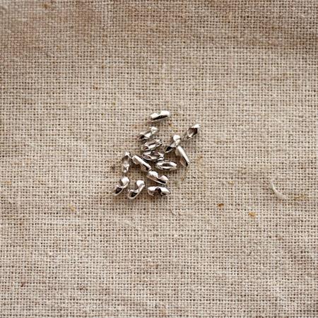 Fermoir chaîne à boules Argent gris x 20