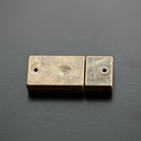 Fermoir Magnétique Rectangle 30x13mm Bronze vieilli x 1pc