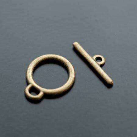 Fermoir Anneau Barre 22x18mm Bronze vieilli x 6