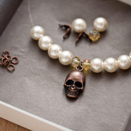 Kit création Bracelet White Skull