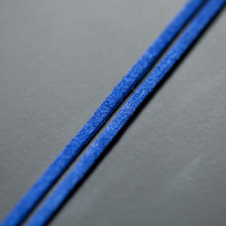 Lanière Imitation Suédine 3mm Bleu x 3m