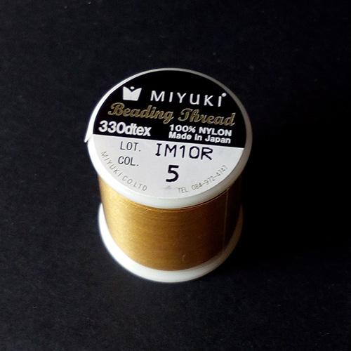 Fil Miyuki doré 0,2 mm 50 mètres