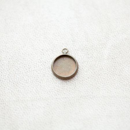 Pendentif à Cabochon Rond 10mm Bronze vieilli x 8pcs