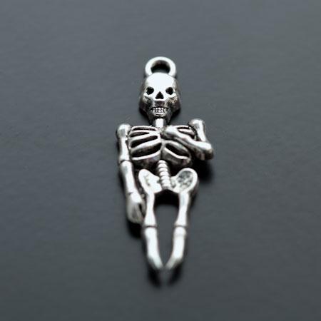 Pendentif Squelette Argent vieilli x 4