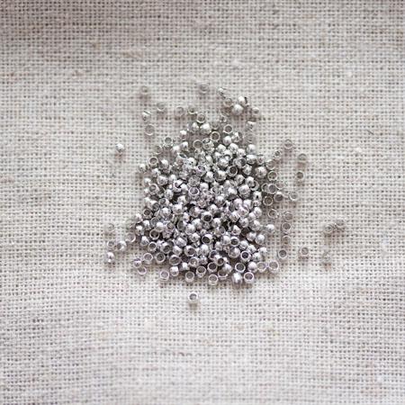 Perle à écraser 1.2mm Argent gris x 200