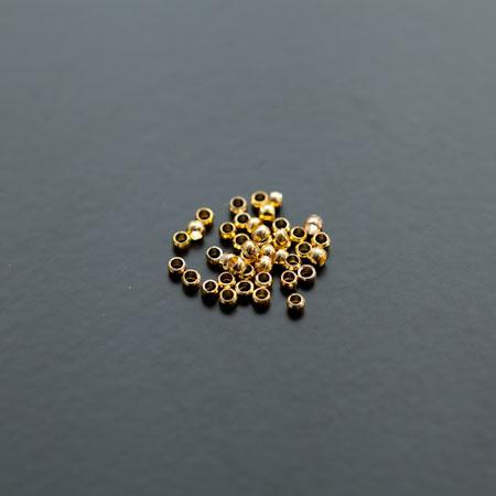 Perle à écraser Rond 1.2mm Doré x 200