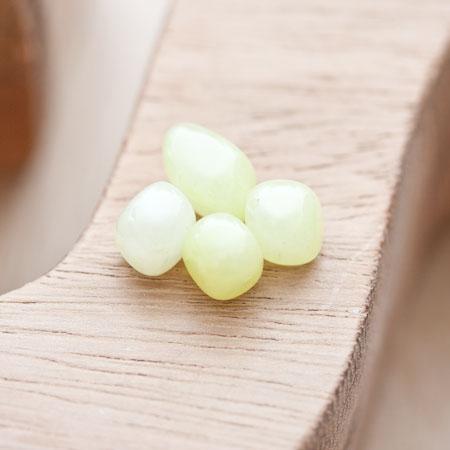 Perle de gemme Ronde 7-9mm Vert x 4