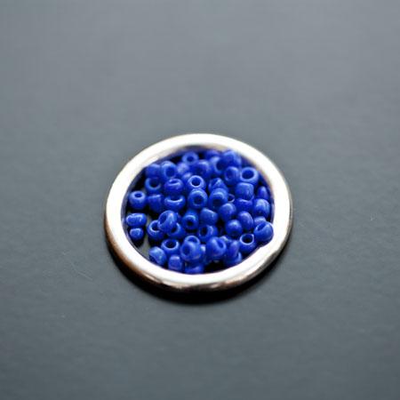 Perle de Rocaille 2mm Verre Bleu Mauve x 174pcs