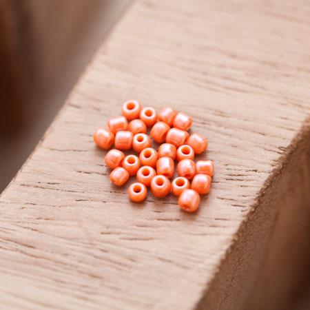 Perle de Rocaille 2mm Verre Orange Nacré x 300