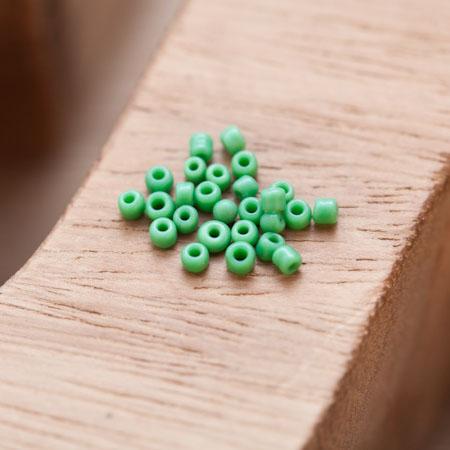 Perle de Rocaille 2mm Verre Vert x 300