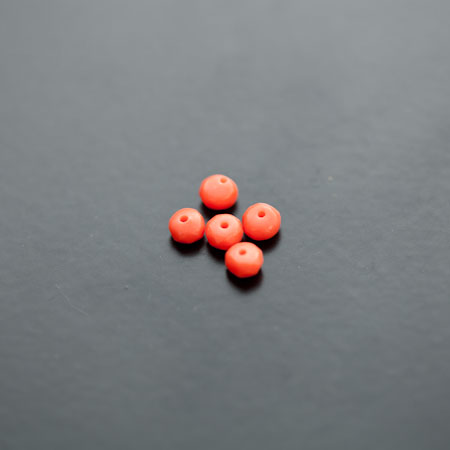 Perle de Turquoise Synthétique Boulier 4mm Facettes Rouge Orange x 12pcs