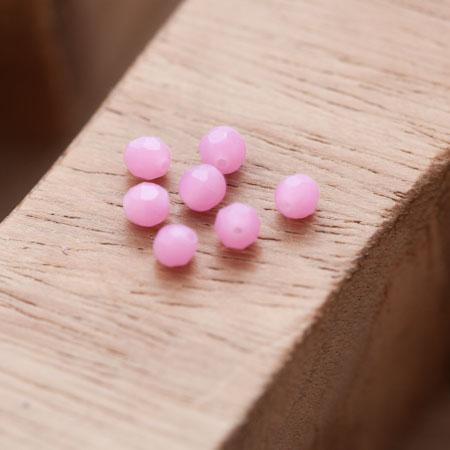 Perle en Corail Rond 4mm Rose Violet x 10
