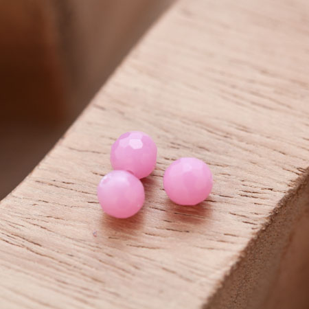 Perle en Corail Rond 6mm Rose Violet x 7