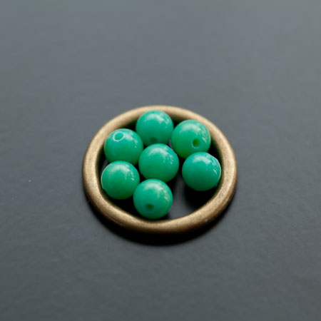 Perle en Jade 6mm Vert Océan Clair x 12