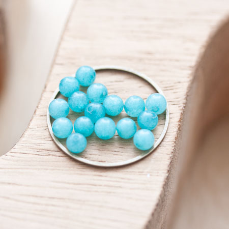 Perle en Jade Ronde 4mm Bleu clair x 20