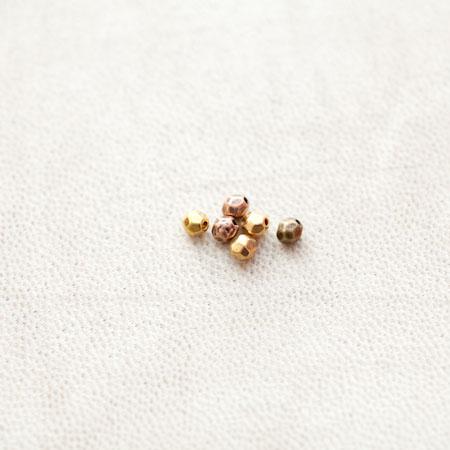 Perle en métal Ovale 4mm Facettes Couleur Mixte x 20pcs