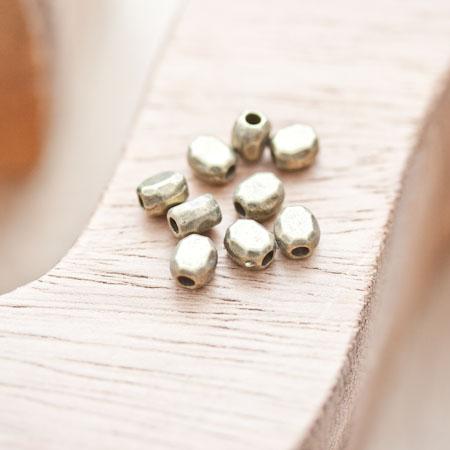 Perle en métal Ovale 5x4.5mm Bronze vieilli x 10