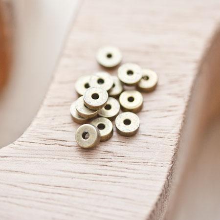 Perle en métal Ronde 5mm Rondelle Bronze vieilli
