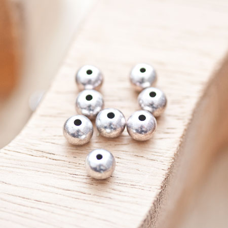 Perle en métal Ronde 6mm/1mm Argent vieilli x 18