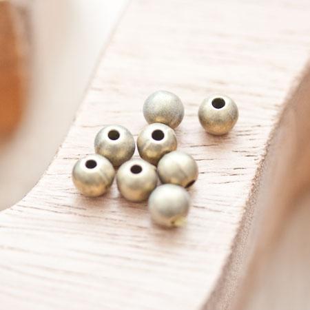 Perle en métal Ronde 6mm/1mm Bronze vieilli x 18