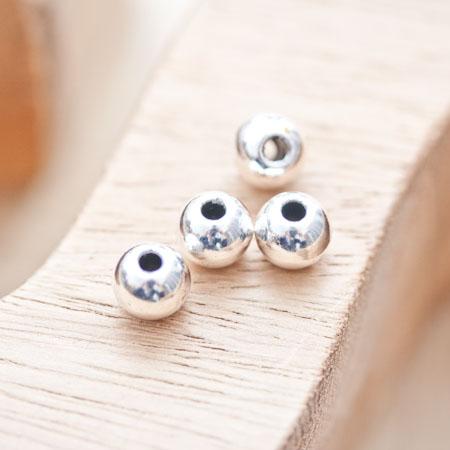 Perle en métal Ronde 7.5mm Argent vieilli x 10