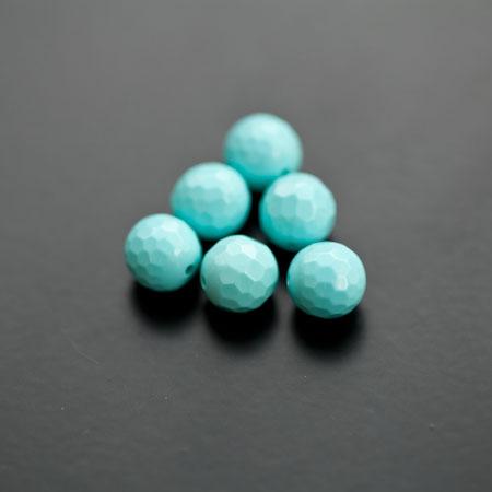 Perle de Turquoise 8mm Synthétique Vert Cyan x 6pcs