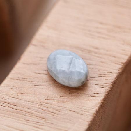 Perle Oeil de Tigre Ovale 14x10mm Facettes Gris x 1