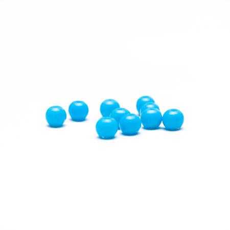Perle plastique 6mm Bleu turquoise x 500