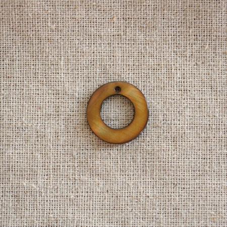 Perle Nacre 18mm anneau Café x 50
