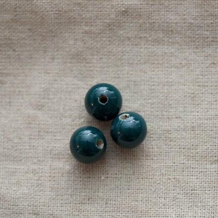 Perle porcelaine 13x11.5mm Vert Kaki x 50
