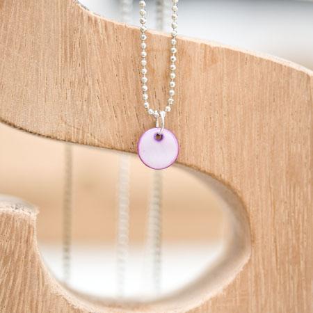 Sequin Nacre 10mm Violet foncé